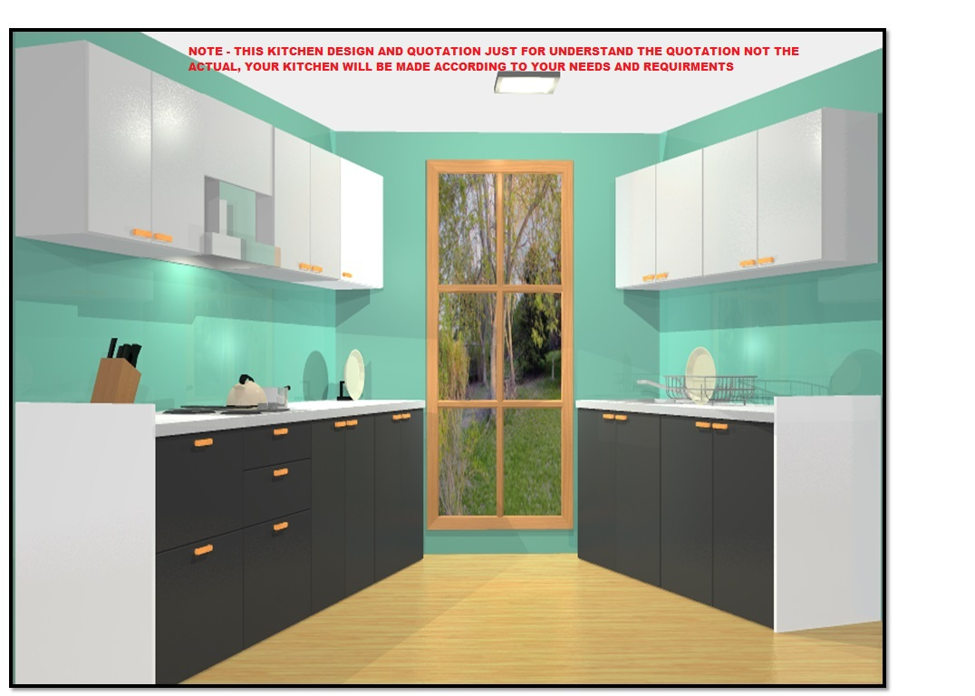 9ft Length X 9ft Length Platform – 9 Off Parallel Kitchen with Base &  Wall Cabinet Storage