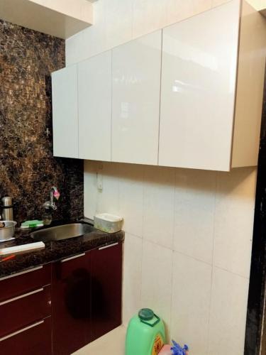 Red & White L shape Acrylic Kitchen